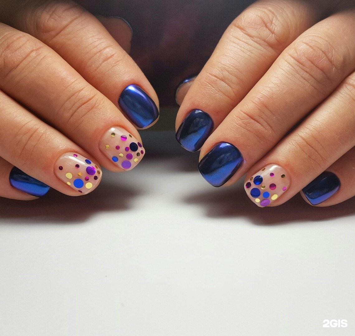 Дизайн ногтей паетками фото