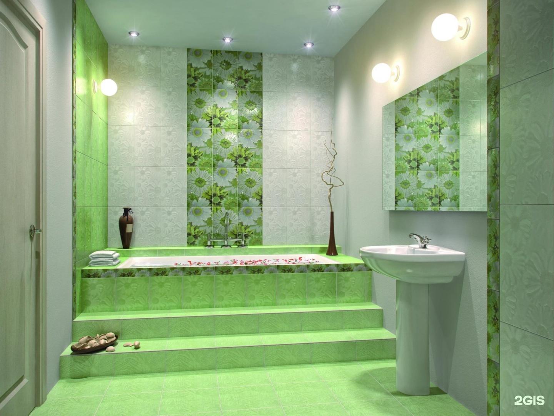Зеленая ванная комната  № 2278658 загрузить