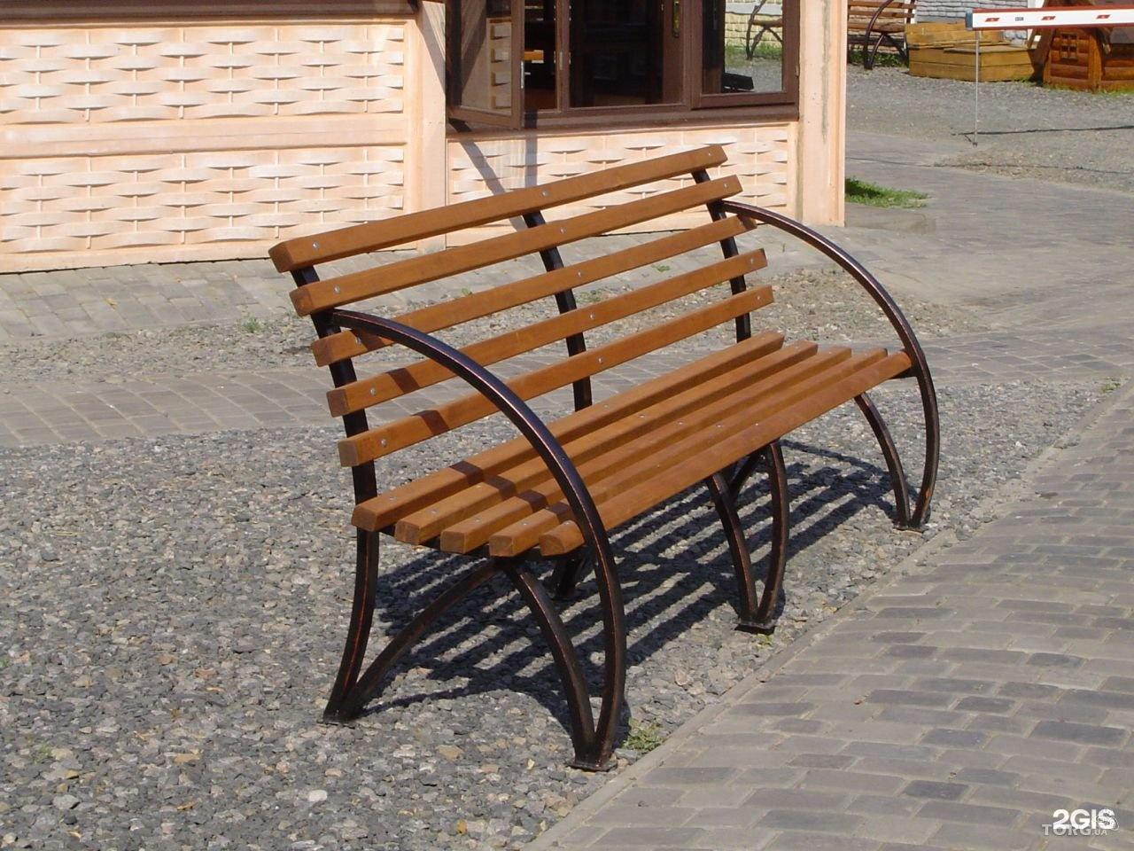 Скамейка из металла своими руками фото