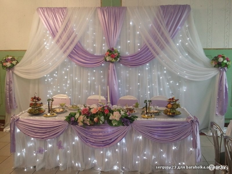 Драпировка свадебного стола своими руками пошагово 6