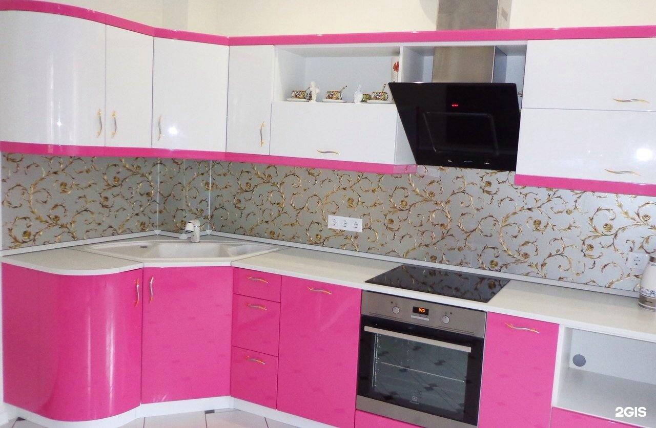 Кухня мдф глянец фото цветов