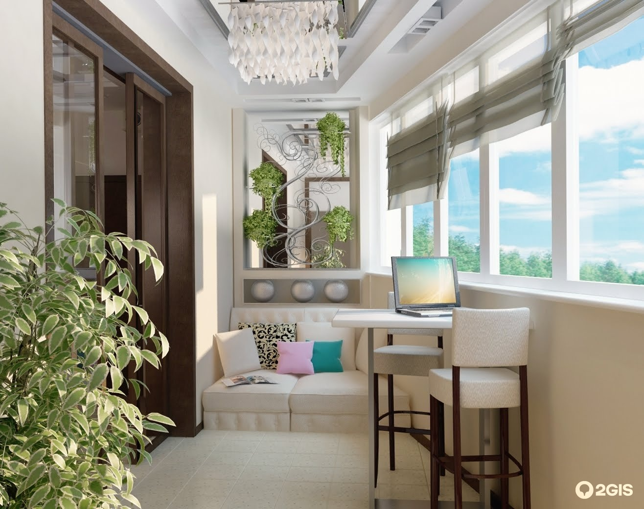 Дизайн балкона совмещенного с комнатой