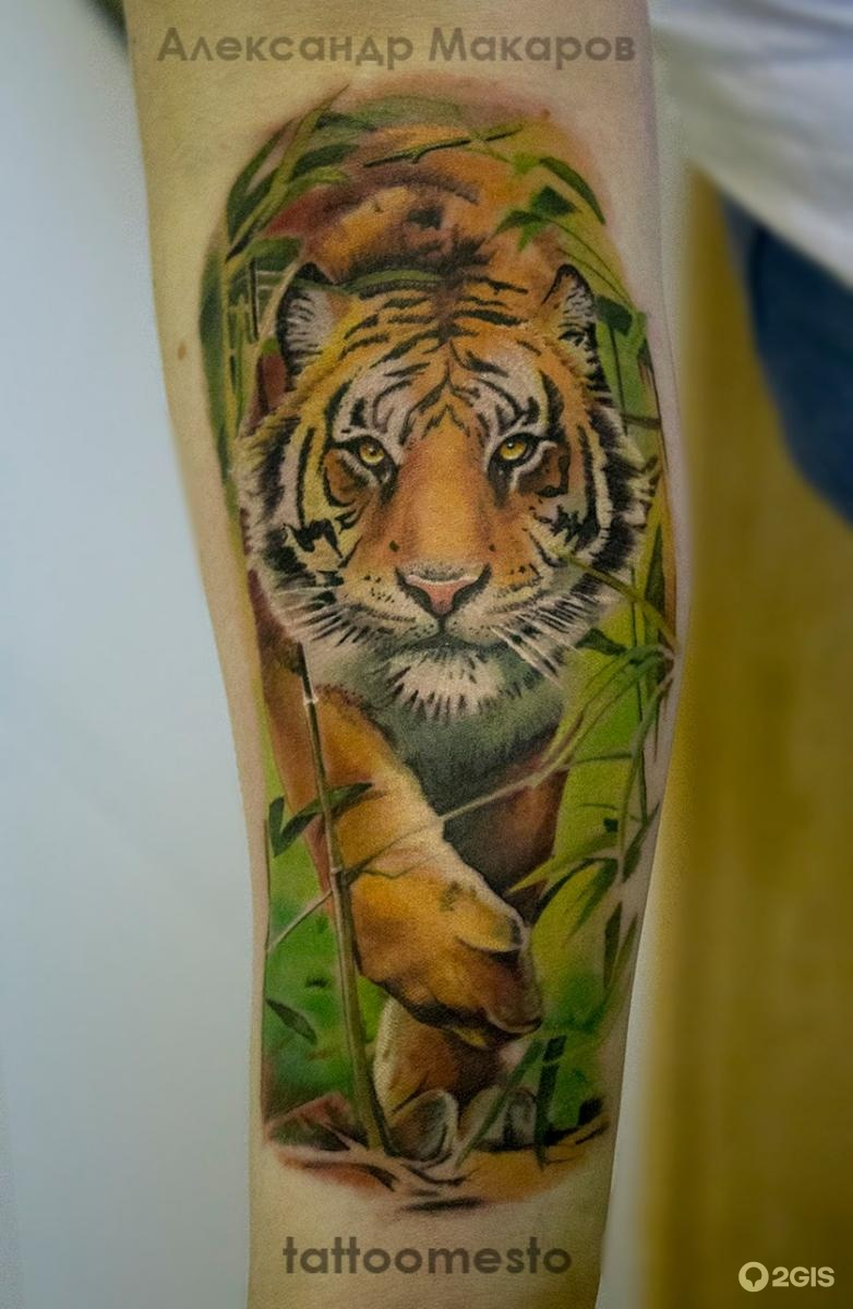 Татуировки на предплечье тигра фото