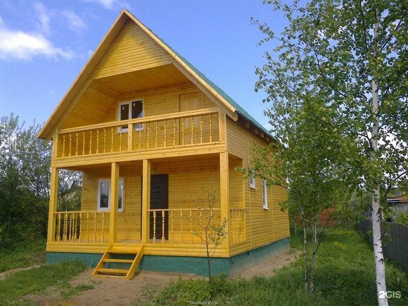 Дачный домик с балконом фото.