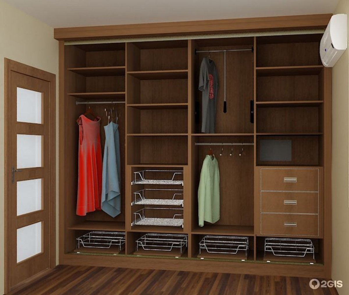 Шкафы-купе по индивидуальным размерам, шкафы-купе,кухни на з.