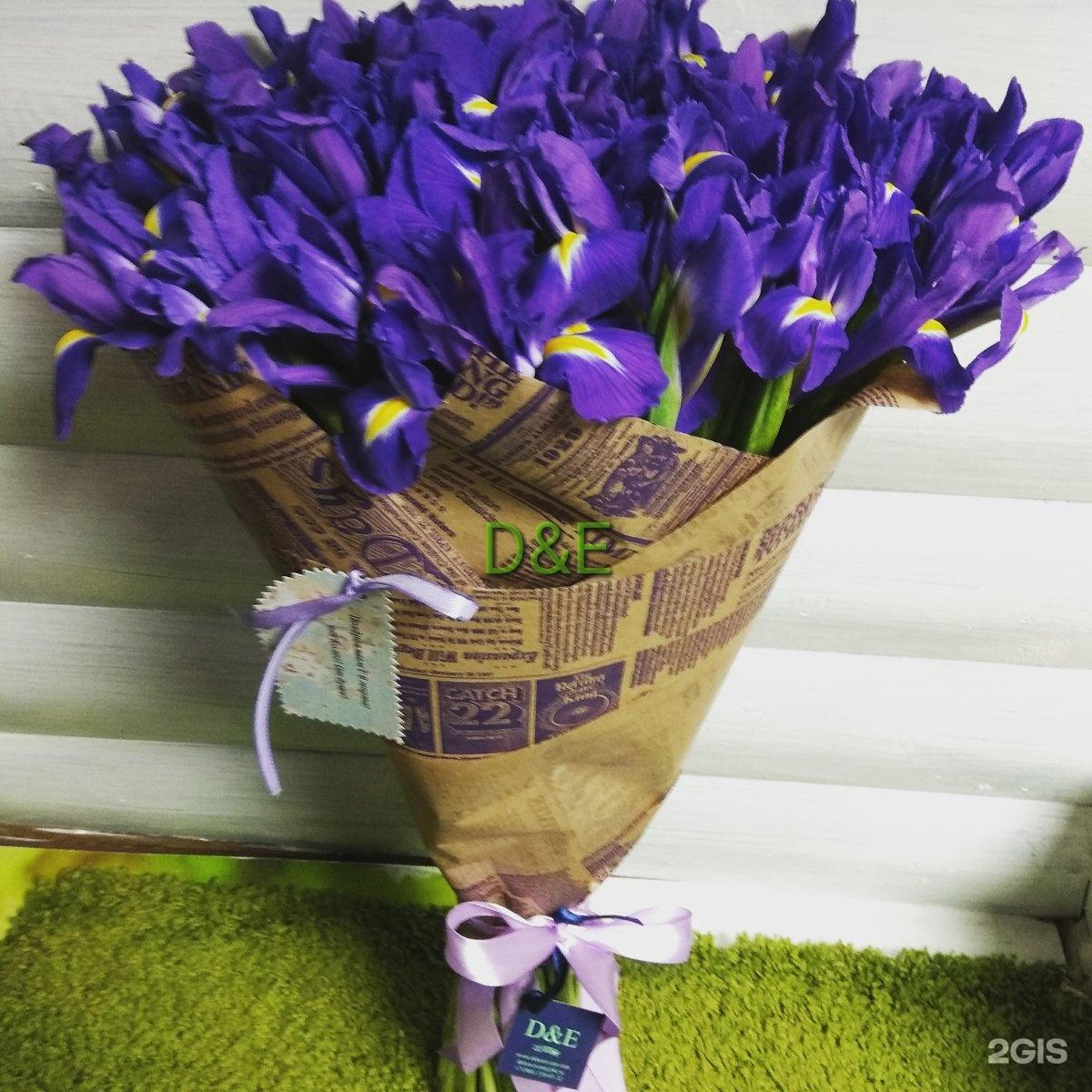 Салон букетов ирисов, цветов