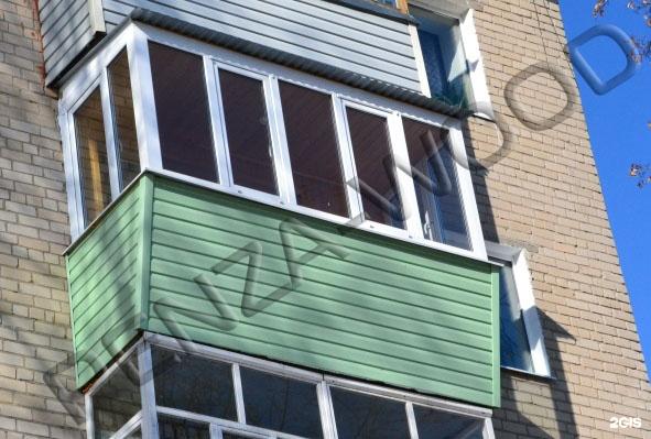 Пластиковые рамы на балкон, с выносом.